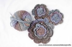Chinese roses crochet pattern