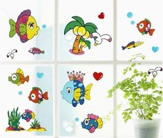 Wall Stickers for Kids Stick Wall Decals Wall Decals Decoration Wall Sticker Decal - Smilling Fish by bigbvg, http://www.amazon.com/dp/B0088I93JU/ref=cm_sw_r_pi_dp_klg0pb1B0Z0E1