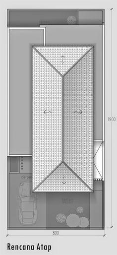 model+rumah+minimalis+modern+2+lantai+di+Makassar+-+rencana+atap.jpg (734×1600)