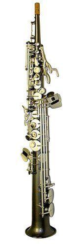 Sax Dakota SDSS 1024 Soprano Saxophone GO Straight with Hardwood Travel Case, Gray Onyx Finish *** See this great product.