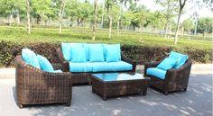 Catalina Full Round Weave 4 Piece Wicker Outdoor Patio Furniture Set – San Diego Factory Direct Wholesale | SDI Deals LLC