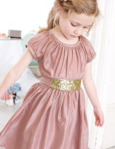 Sequin Sash Dress