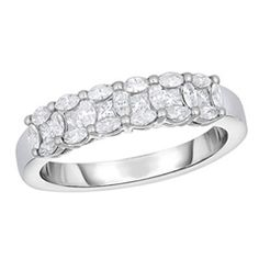 Adorne Collection 1 CT. T.W. Composite Diamond Band in 14K White Gold