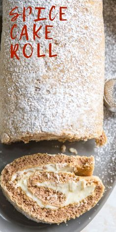 This spice cake roll has classic spices folded into a tender cake roll batter. The filling is a sweet maple buttercream that could be called dessert all on its own! Cake Roll Recipes, Best Dessert Recipes, Cupcake Recipes, Baking Recipes, Cupcake Cakes, Cupcakes, Köstliche Desserts, Delicious Desserts, Chocolate Desserts