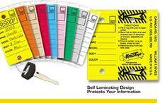 Fold Over Car Key Tags - Qty 250 per pack