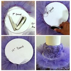 Click for our quick tutorial!!  How to make a tutu cake board!