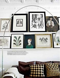 Picture shelf above sofa | Habitually Chic® » Marvelous Malene