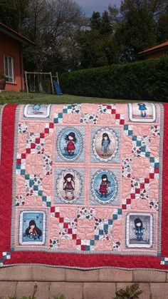 gorjuss Fabric Panel Quilts, Fabric Panels, Girls Quilts, Baby Quilts, Triangle Quilts, Quilt Making, Quilt Patterns, Bohemian Rug, Diy And Crafts