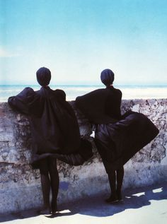 Noir intense, the wide black by kenzo, 1981        photographed for marie claire by sacha