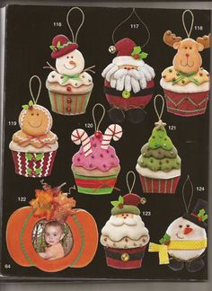 70 ideas for cupcakes decoration navidad natal Christmas Owls, Christmas Time, Christmas Wreaths, Christmas Crafts, Christmas Decorations, Xmas, Christmas Ornaments, Holiday Decor, Snowman Cupcakes