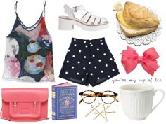 """""""tea & scones"""" by ayaaaxo ❤ liked on Polyvore"""