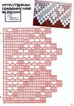 Filet crochet border