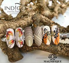 # Nails Autumn nails indigo nails wzorki jesienne, autumn nails art politur Many women prefer to … Nail Art Pastel, Nail Art Diy, Minimalist Nails, Autumn Nails, Winter Nail Art, Fall Nail Designs, Simple Nail Designs, Nail Art Halloween, Korean Nail Art