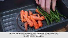 Recette de Légumes vapeur avec le robot cuiseur kCook Multi de Kenwood.