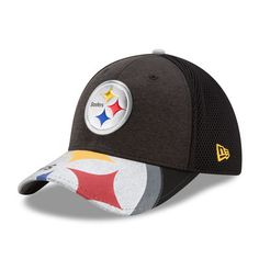 Men s New Era Black Pittsburgh Steelers 2017 NFL Draft On Stage 39THIRTY  Flex Hat 7aaacc45d