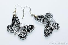 365 day project Butterfly ♥ DAY 351 ♥ Butterfly shrink plastic earrings.