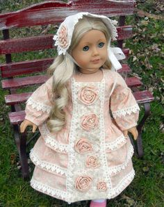 American Girl Victorian Dress Made from MHD Designs