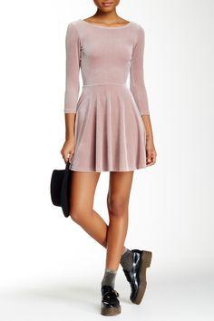 Stretch Velvet Skater Dress by American Apparel on @HauteLook