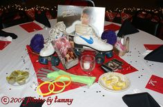 Class Reunion Table Decorations | Each table was decorated in a different theme, either from school ...