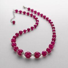 ruby (!) jade necklace - collier en jade rubis (!)