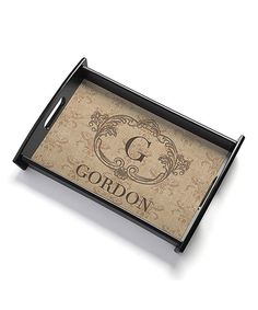 look at this zulilyfind black chevron personalized serving tray