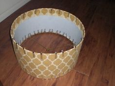 Chicken wire creates a shabby look could use over any for How to make a lampshade from scratch