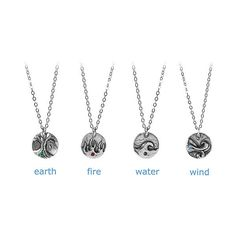 ELEMENTS NECKLACE | Four Element, Earth, Wind, Water and Fir... - Polyvore