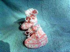 Lacy Top Crocheted Booties | AllFreeCrochet.com
