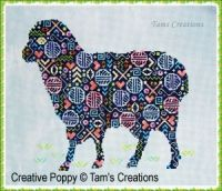 Tam's Creations - Sheep-in-patches (cross stitch pattern chart)
