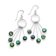Triangle Earrings, Celtic Designs, Abalone Shell, Topaz Gemstone, Metal Stamping, Designer Earrings, Beautiful Earrings, Sterling Silver Earrings, Jewelry Collection