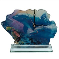 Dolphins on the Reef Clock
