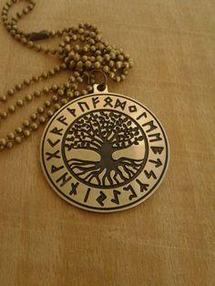 Collier Rune Yggdrasil, Viking collier arbre de vie, pendentif Viking, arbre du monde celtique, la mythologie nordique, Asatru, bijoux Viking, nordique