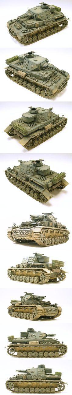 German Panzer IV F1 1/35 Scale Model