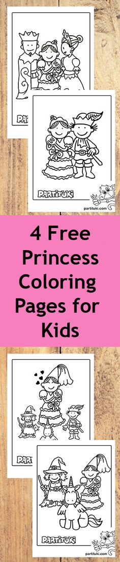 4 Free Princess Coloring Pages for Kids Free princess coloring pages for kids from Partituki. It includes 4 pags that your kids will surely love and enjoy killing. 7th Birthday Party Ideas, Kids Birthday Party Invitations, 5th Birthday, Party Favors, Princess Coloring Pages, Coloring Pages For Boys, Happy Birthday Printable, Happy Birthday Banners, Horse Pinata