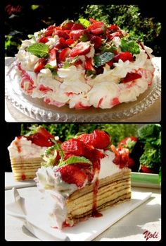The Homestead Survival | Strawberries And Cream Baumkuchen (Tree Cake) | http://thehomesteadsurvival.com