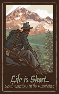 PAL-5016 MHMD Life Is Short Mountain Hiker Man Hood