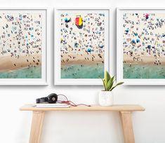 NEW Framed 3-Piece Triptych Bondi Beach Photo Print Set //