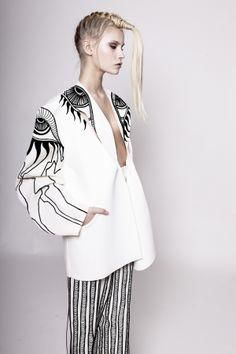 Monochrome Fashion with graphic illustrated print detail // Alana Dee Haynes