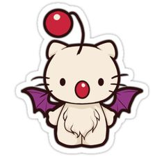 Sticker. Hello kitty moogle.... the adorableness is too much