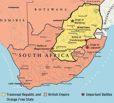 The Boer Wars played an important role in the history of the continent and the British Empire. This post tells you about the significance of the Boer Wars, that led to the union of South Africa. African Map, African History, World History Map, Union Of South Africa, Africa Continent, Bible Knowledge, Alternate History, Important Facts, World Maps