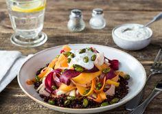Shaved Vegetable Salad over Red Quinoa Recipe | HelloFresh