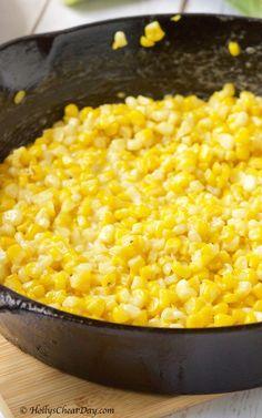 Potato Vegetable, Vegetable Side Dishes, Vegetable Recipes, Fried Corn Recipes, Parmesan Recipes, Southern Fried Corn, Southern Squash Casserole, Corn Casserole, Vegetarian Fast Food