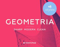 Geometria is a new geometric sans serif. It consists of 16 fonts — eight weights with matching italics. The font includes multiple sets of figures and currency signs, alternate glyphs, a variety of experimental ligatures, and punctuation marks for the two…
