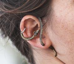 Fake Stretching taper Earring Plug Fake gauge Cobra Snake