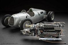 Auto Union Type C hillclimb, 1936, CMC, 1:18 scale, by Jeff MacDougall