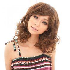 Medium Full Wig - Wavy Light Brown - One Size