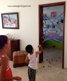 Casa Eglys: DIY: Telaraña Pegajosa - Juegos para niños