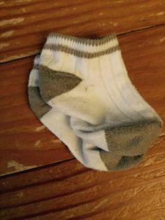 White/tan ribbed socks