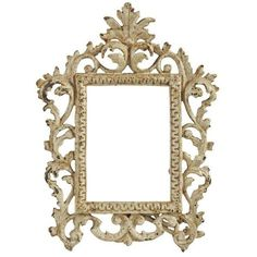 Vintage Shabby Chic Iron Picture Frame (1.015 NOK) ❤ liked on Polyvore featuring home, home decor, frames, picture frames, white frames, iron home decor, white home decor, iron picture frames and white picture frames