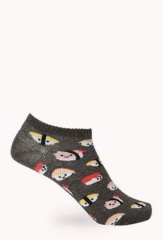 Sushi Frenzy Ankle Socks | FOREVER21 - 2000125707
